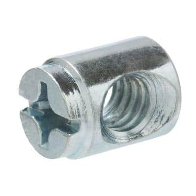 1/4 in. x 13 mm Type F Zinc Cross Dowel Nut