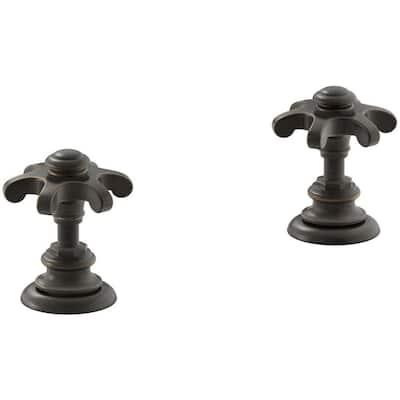 Artifacts Bathroom Sink Prong Handles in Oil-Rubbed Bronze