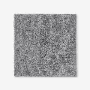 Company Cotton Chunky Loop Silver 24 in. Square Bath Rug