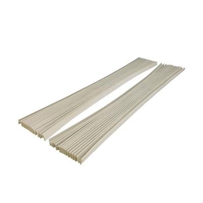 Gray Vinyl Window Air Conditioner Side Panel Kit