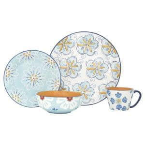 Cara 16-Piece Stoneware Dinnerware Set with Service for 4-People