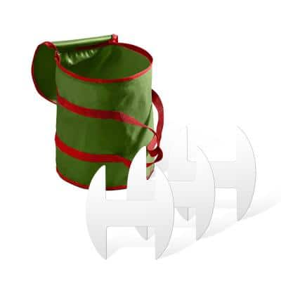 15 in. Green Non-Woven Christmas Light Storage Bag with 3 Cardboard Wraps