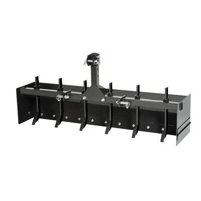 IP6001 Impact CAT-0 Steel Tractor Attachment Box Scraper, Black