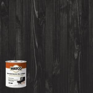 1 pt. Ebony Butcher Block Oil and Stain