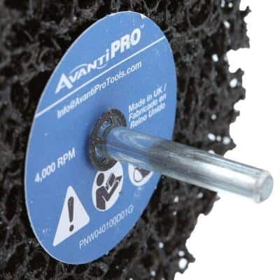 4 in. x 1 in. Non-Woven Drill Mount Quick-Strip Disc