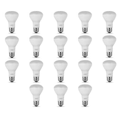 45-Watt Equivalent (2700K) R20 LED Light Bulb, Soft White (18-Pack)