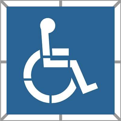 36 in. Two Part Handicap Stencil