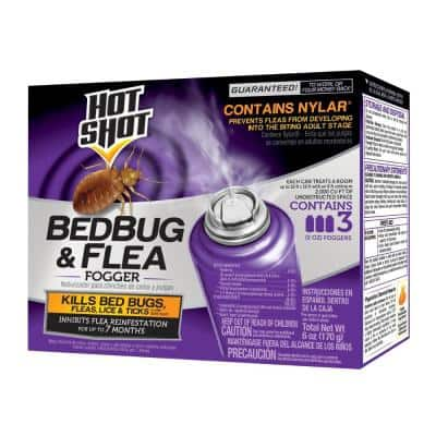 Bed Bug and Flea Killer 2 oz. Aerosol Fogger (3-Count)