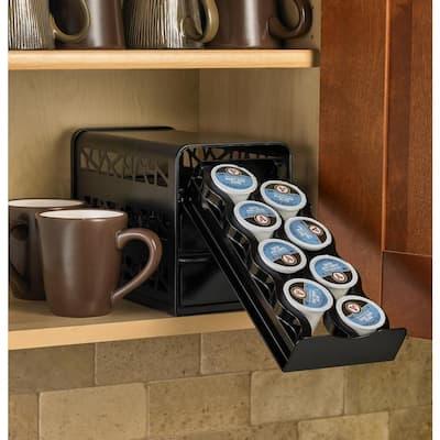 Black Steel 3-Tier Universal Drawer for Verismo and Nespresso