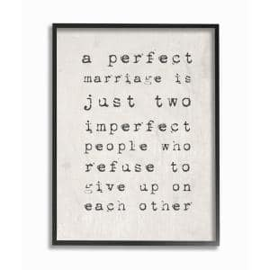 16 in. x 20 in. ''A Perfect Marriage'' by Daphne Polselli Wood Framed Wall Art