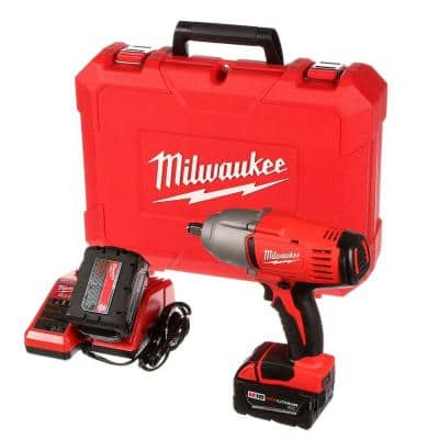 M18 1/2 in. 18-Volt Lithium-Ion Cordless Impact Wrench W/Friction Ring Kit W/(2) 3.0 Ah Batteries Charger and Hard Case