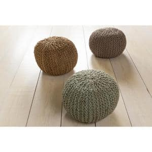 Calabozo Light Gray Accent Pouf