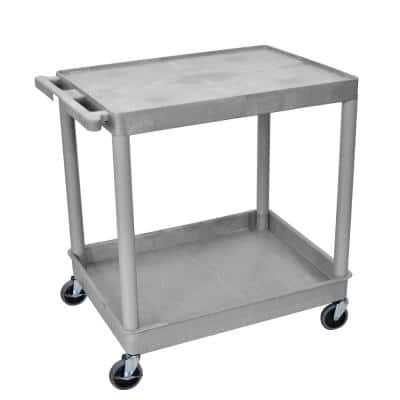 TC 32 in. W x 24 in. D Large Flat Top and Tub Bottom Shelf Utility Cart