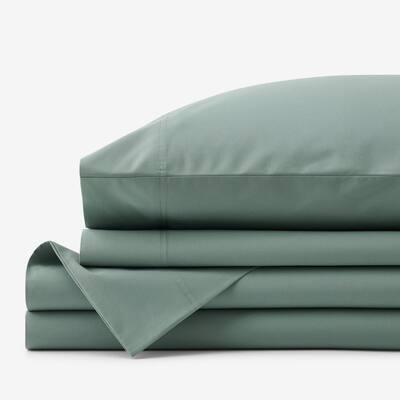 Company Organic Cotton 3-Piece Thyme Cotton Percale Twin Sheet Set