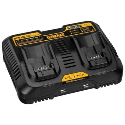 12-Volt to 20-Volt MAX Lithium-Ion Dual Port Jobsite Charging Station with (2) USB Ports