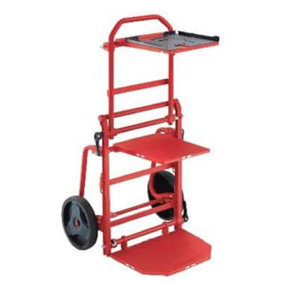 330 lbs. Capacity Folding Utility Cart with 2-Wheels, Straps and 3-Shelves