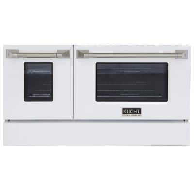 Oven Door and Kick-Plate 48 in. White Color for KNG481 (Large and Small Ovens)