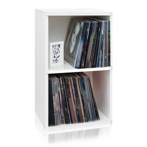 zBoard White 2-Shelf Vinyl Record Storage and LP Record Album Shelf