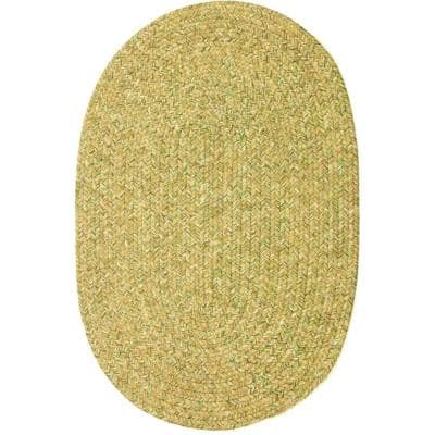 Newberry Oatmeal Tweed 3 ft. x 5 ft. Oval Indoor/Outdoor Braided Area Rug