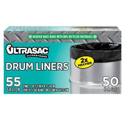 55 Gal. Drum Liner Trash Bags (50 Count)
