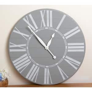 Vintage Gray Farmhouse Wall Clock