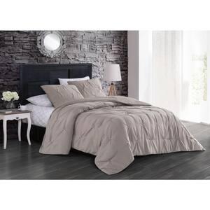 Flynn 7-Piece Taupe King Comforter Set