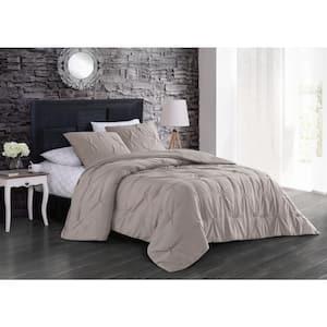 Flynn 7-Piece Taupe Queen Comforter Set