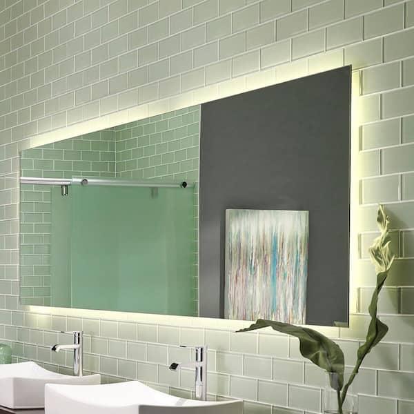 Msi Arctic Ice 3 In X 6 Glossy, Glass Subway Tile Bathroom