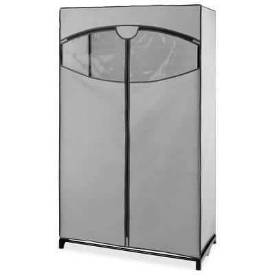 36 in. x 64 in. White Portable Clothes Closet