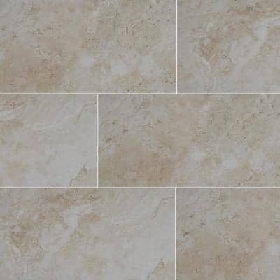 Romagna Almond 12 in. x 24 in. Polished Porcelain Floor and Wall Tile (16 sq. ft./Case)