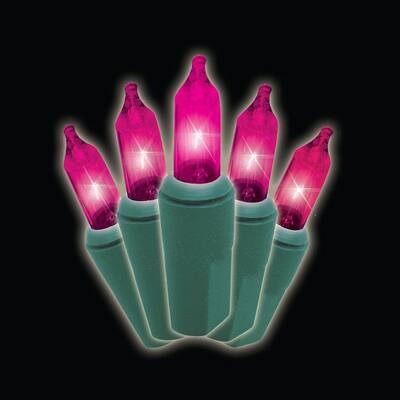 50-Light Designer Series Pink Mini Light Set (Set of 2)