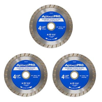 4.5 in. Turbo Diamond Blade (3-Pack)