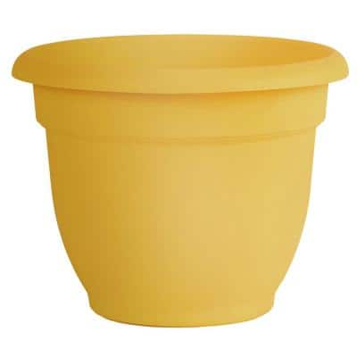 Ariana 13 in. Earthy Yellow Plastic Self-Watering Planter