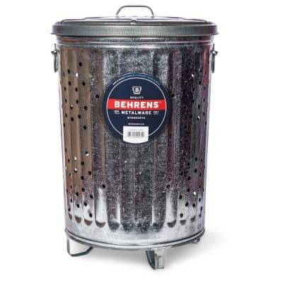 20 Gal. Galvanized Steel Outdoor Refuse Can with Lid