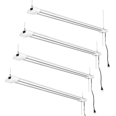4 ft. 260-Watt Equivalent 4000 Lumens Linkable Integrated LED White Shop Light in Daylight 5000K (4-Pack)