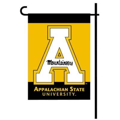 NCAA 13 in. x 18 in. Appalachian State 2-Sided Garden Flag Set with 4 ft. Metal Flag Stand