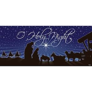 7 ft. x 16 ft. Nativity O'Holy Night Christmas Garage Door Decor Mural for Double Car Garage