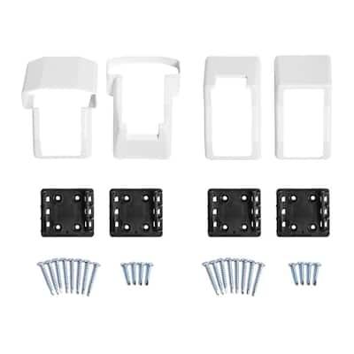 Vanderbuilt/Delray/Bellaire/Vilano White Stair Railing Bracket Kit (4-Piece)