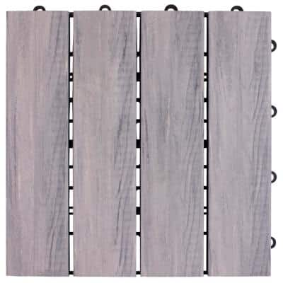 1 ft. x 1 ft. Composite Floor and Decking Tile in Gray (12-Pack)