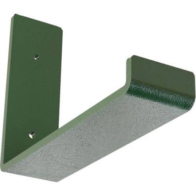 2 in. x 6 in. x 8 in. Hammered Deep Green Steel Hanging Shelf Bracket