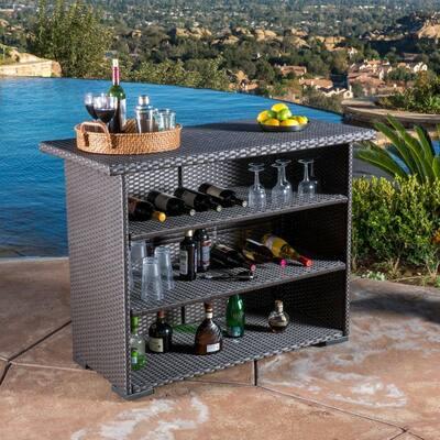 Leander Wicker Outdoor Bar