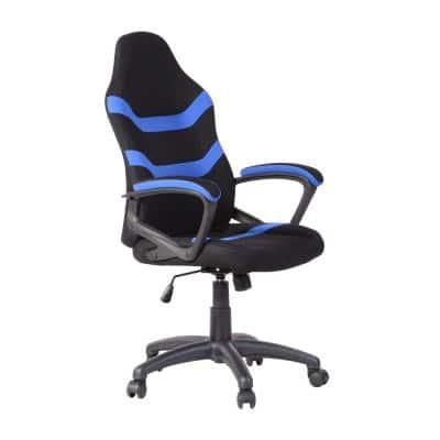 Blue Ergonomic Height-Adjustable Office Gaming Chair with Breathable Fabric for Office, Studyroom