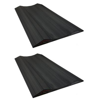 30 in. Long Tire Saver Ramps, Extra wide set accommodates dually tires, for Small Vehicles, Made of Solid PVC (Set of 2)