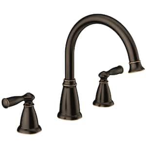 Banbury 2-Handle Deck-Mount High Arc Roman Tub Faucet in Mediterranean Bronze (Valve Included)
