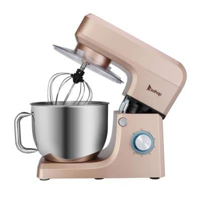 7.5 qt. 6-speed Champagne Stand Mixer with Dough Hook and Whisk