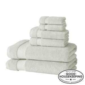 Egyptian Cotton 6-Piece Bath Sheet Towel Set in Sage