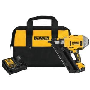 20-Volt MAX Lithium-Ion Cordless Brushless 2-Speed 30° Paper Collated Framing Nailer with 4Ah Battery and Charger