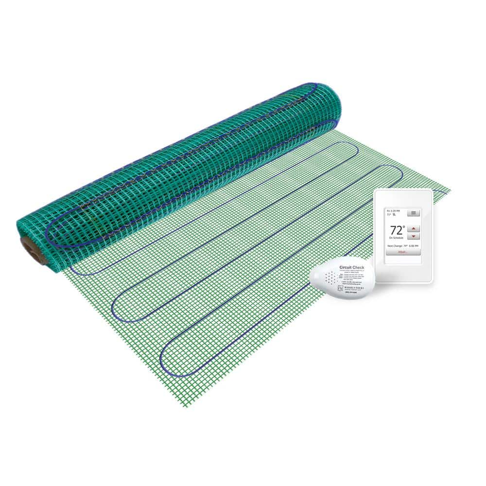 150w//m/² Thermostat Premium Quality Electric Dual Core Under Tile Heating 1m/², Manual Thermostat BodenW/ärme Underfloor Heating Mat