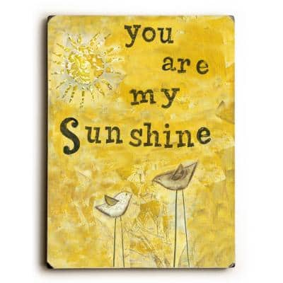 """9 in. x 12 in. """"You Are My Sunshine"""" """"Solid Wood"""" Wall Art"""