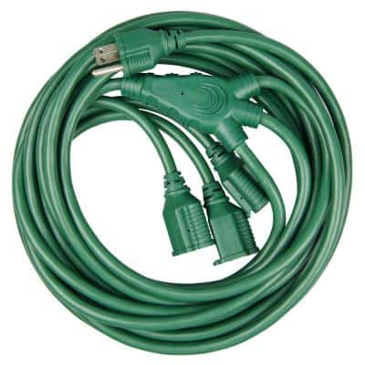 28 ft. 16/3 3-Outlet Multi-Directional Outdoor Extension Cord